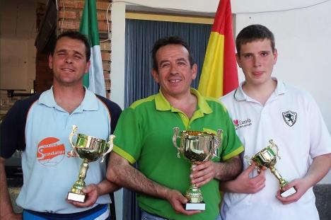 Podium-1ª-categoría-XV-Copa-Federación-de-bolo-andaluz MOGÓN 2013