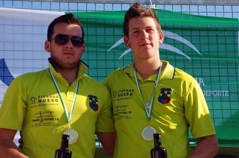 Ivan-y-Jaime-Martinez-Club-Alcoray-Campeones-de-Andalucia-bolo-andaluz SANTO TOME 2013