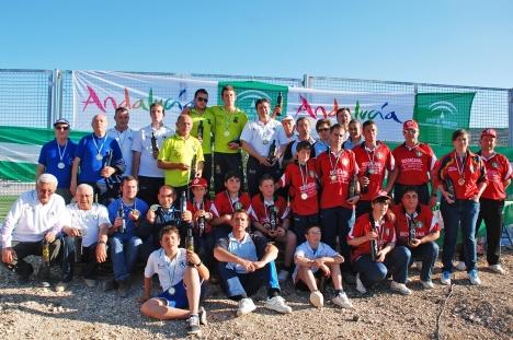 Medallistas-Campeonato-Andalucia-Bolo-Andaluz-Parejas SANTO TOME 2013