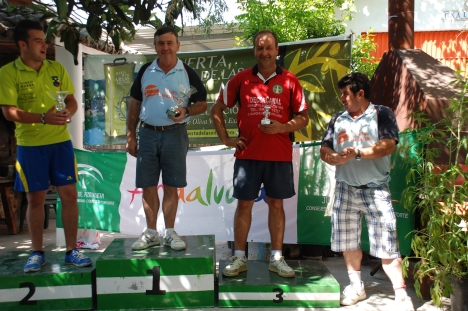 Podium 1ª categoria masculina VILLANUEVA 2013