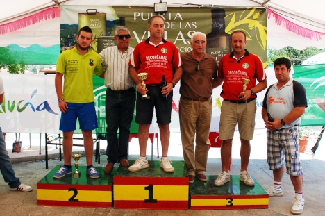 Podium primera categoria Campeonato España bolo andaluz montaña 2013 MOGÓN