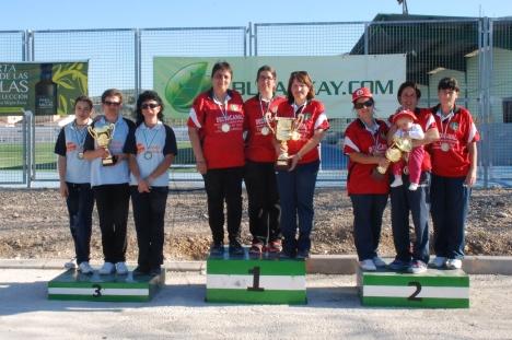 Podium femenino campeonatos andalucia bolo andaluz equipos TOME 2014