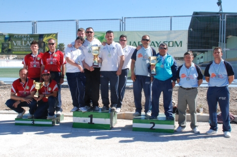 Podium masculino campeonatos andalucia bolo andaluz equipos TOME 2014
